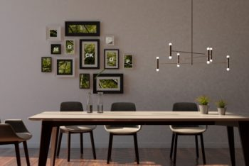 Free Classy Interior Frames Scene Mockup in PSD