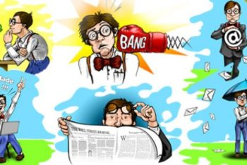 Free Nerdy Geek Cartoon Character Mockup in PSD