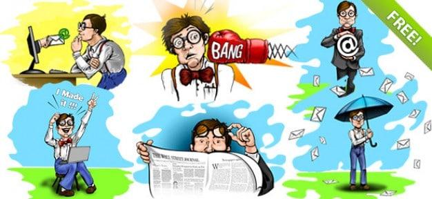 Nerdy Geek Cartoon Character