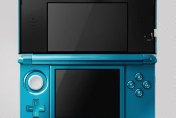 Free Nintendo 3DS Handheld Console Mockup in PSD