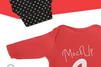 Baby Bodysuit PSD Mockup – A Cute Look Blends With Some Useful Features