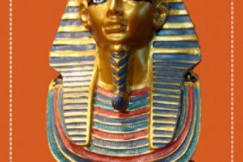 Free Golden Pharaoh Bust Mockup in PSD
