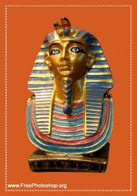 Golden Pharaoh Bust
