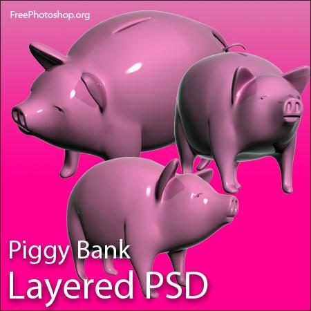 Cute 3D Piggy Bank Design