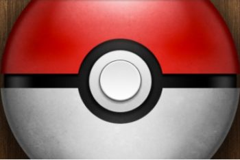 Free Shiny Pokeball Design Mockup in PSD