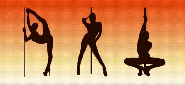 Pole Dancer Silhouette