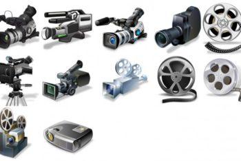 Free Realistic Film Equipment Mockup in PSD