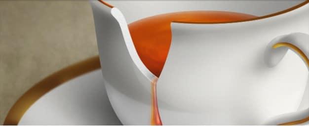 Realistic Broken Teacup