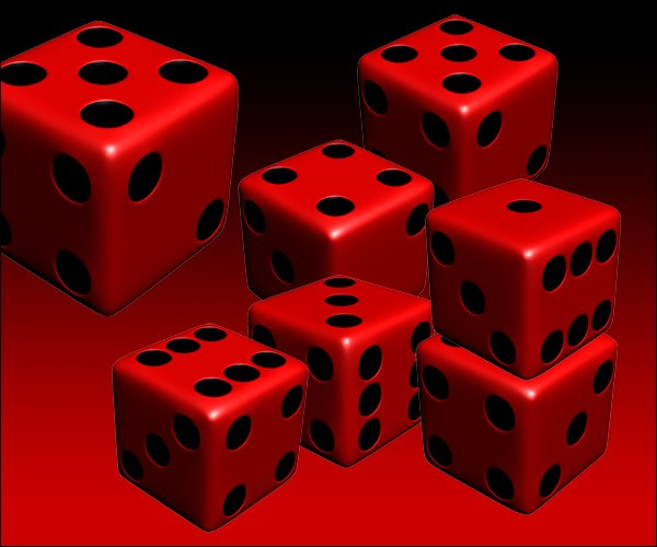 Red Six Sided Dice