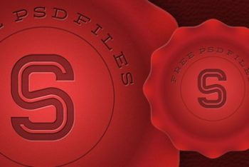Free Red Wax Stamp Design Mockup in PSD
