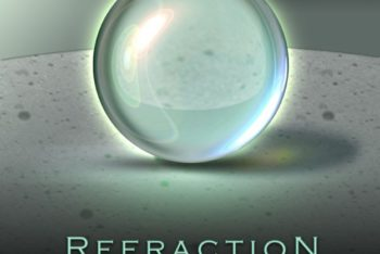 Free Shiny Refraction Sphere Mockup in PSD