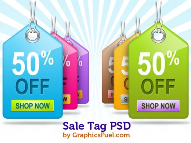 Colorful Sale Tags