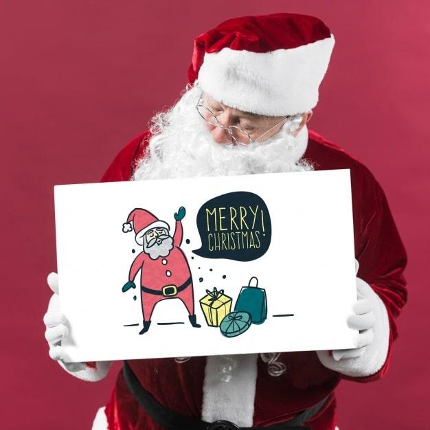 Santa Claus Plus Paper Sign