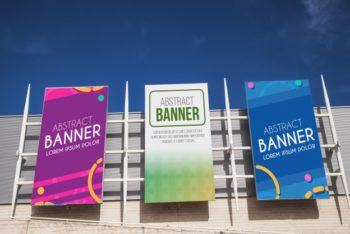 Free Shopping Center Billboard Mockup in PSD
