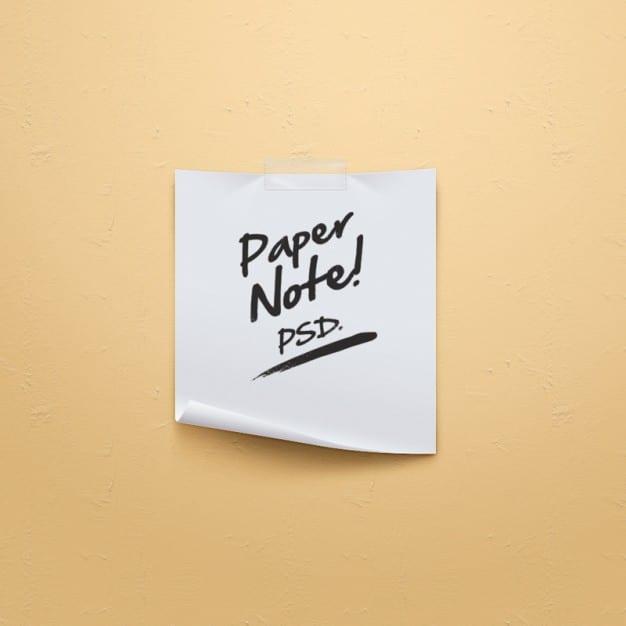 Simple Paper Note Scene