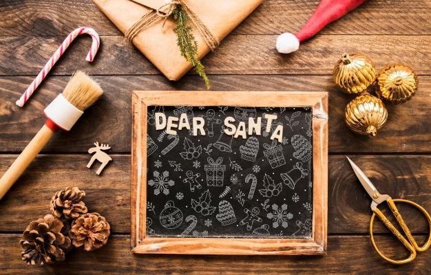 Dear Santa Christmas Slate