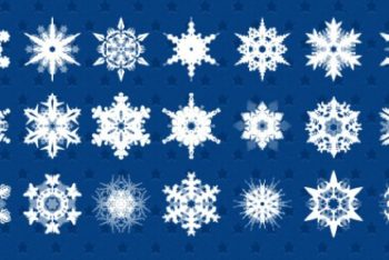 Free Numerous Snowflake Patterns Mockup in PSD