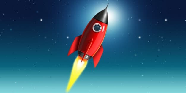 Launching Space Rocket
