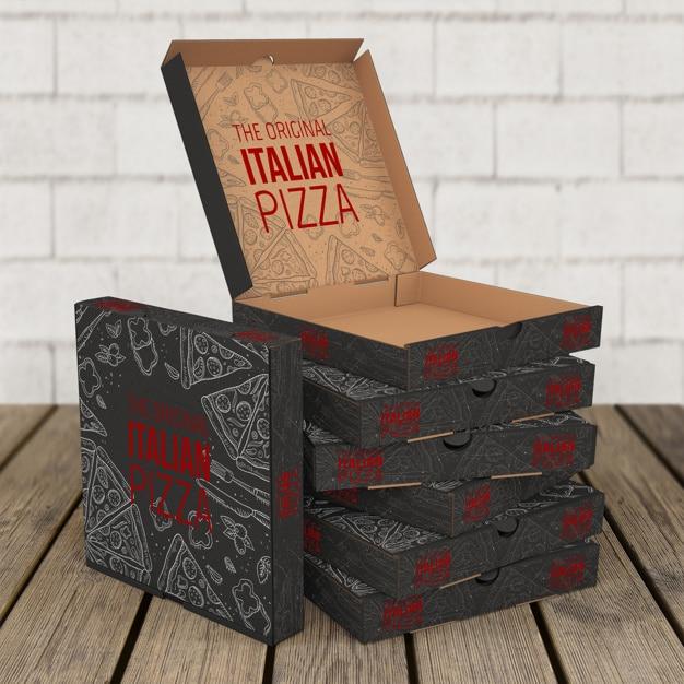 Pizza Box Stack Scene