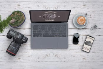 Free Professional Photographer Tools Mockup in PSD