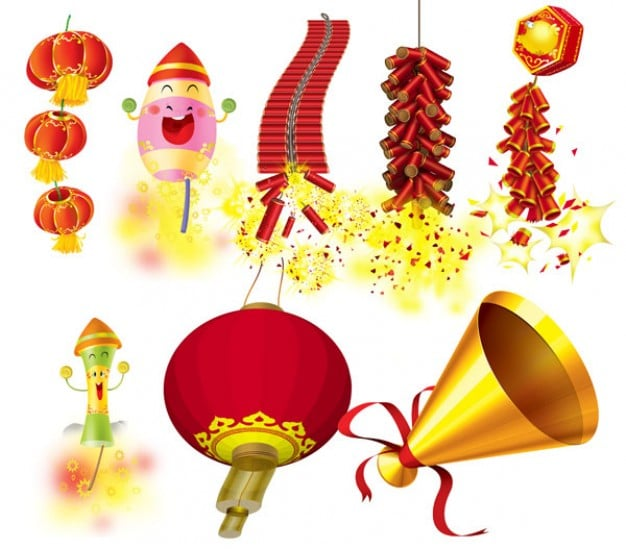 Traditional Chinese New Year Elements