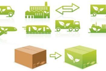 Free Eco Transportation Logo Mockup in PSD
