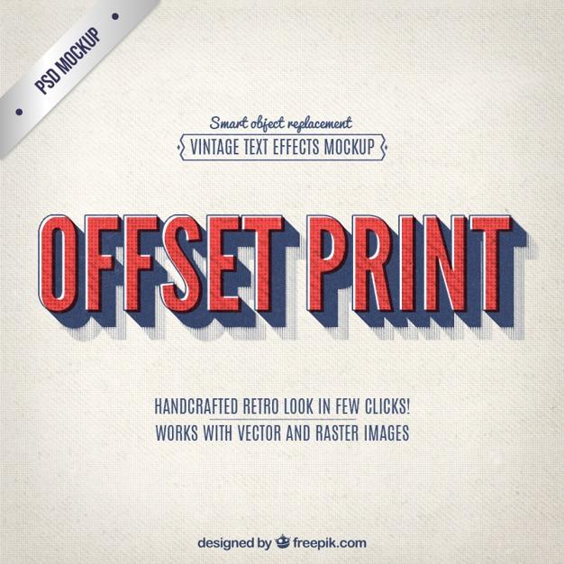 Vintage Offset Lettering