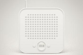 Free Minimalist Retro Radio Mockup in PSD
