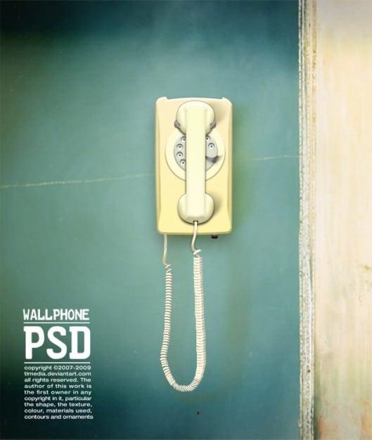 Old Wall Phone Scene