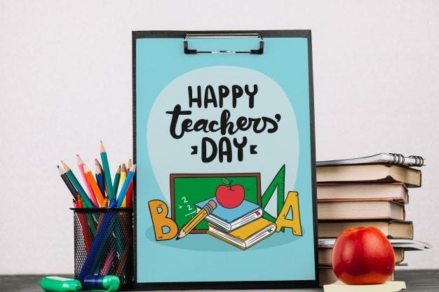 Teachers Day Clipboard Plus Apple
