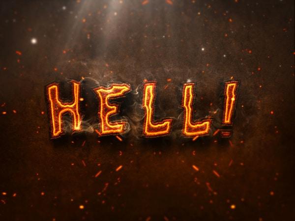 Hot 3D Burning Text Effect
