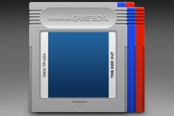 Free Colorful Game Boy Cartridges Mockup in PSD