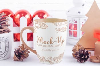 Christmas Special Coffee Mug PSD Mockup – Available in High Resolution