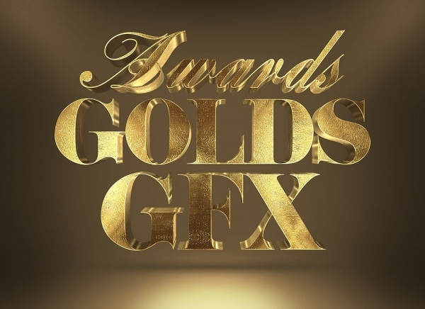 3D Gold Award Text