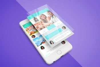 Design Awesome Presentation with This Free iPhone App Screen PSD Mockup