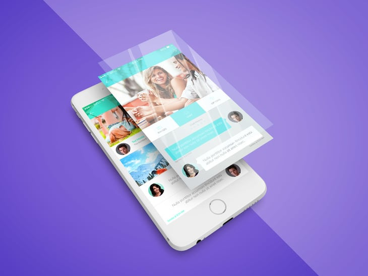 Free PSD mockup for iPhone App Screen