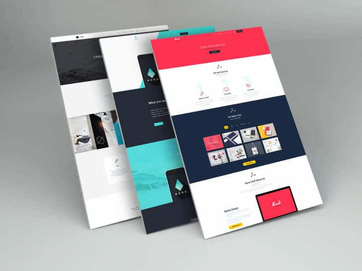 Free PSD mockup for perspective web design