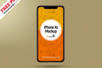 New iPhone XS PSD Mockup for Showcasing App Design Screenshot
