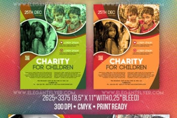 Download Charity for Children Free Flyer PSD Mockup
