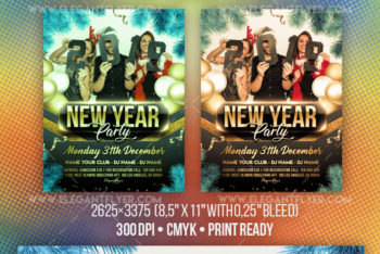 Download New Year Party Free Flyer PSD Mockup