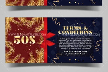 Christmas Discount Certificate Mockup for Free Download