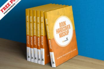 Useful Hardcover Book Collection PSD Mockup