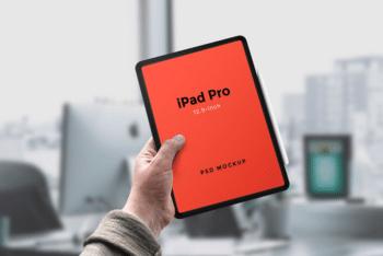 Photorealistic iPad Pro PSD Mockup for Free