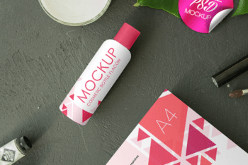Cosmetic Flacon PSD Mockup – Available in High-Resolution