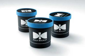 Fully Customizable Ice Cream Cup PSD Mockup