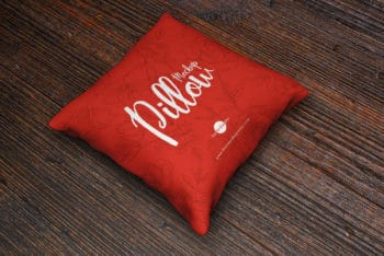 Free Cushion / Pillow Mockup – Available in PSD Format