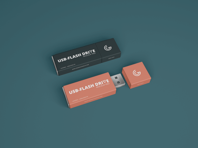 Free PSD Mockup for USB Flash Drive Branding