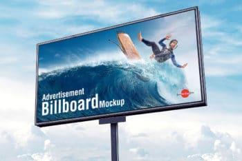 Spectacular Outdoor Advertisement Billboard PSD Mockup
