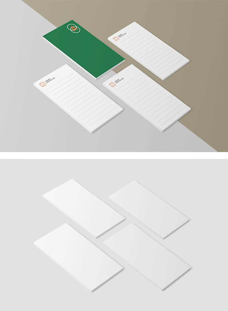 Free PSD Mockup for Notepads