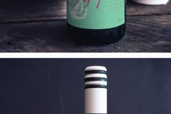 Wine Bottle Packaging PSD Mockup for Free